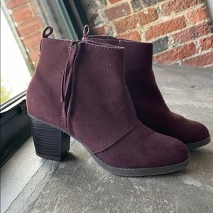 Burgundy Ankle Booties